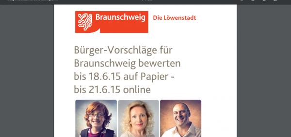 Broschüre Bürgerhaushalt Braunschweig