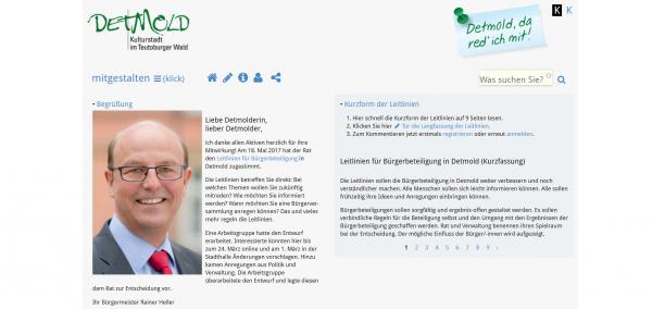 Screenshot Webseite https://www.detmold-mitgestalten.de