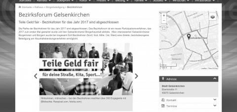 Screenshot Webseite https://www.gelsenkirchen.de/de/rathaus/buergerbeteiligung/bezirksforum